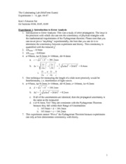 Culminating Lab 1 Solutions