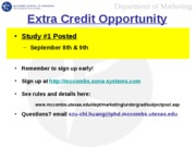 Extra Credit Opportunity 1