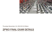 Lecture - Final Exam Details