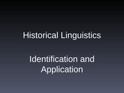 Historical Linguistics Presentation