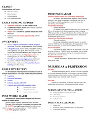 Class 5 - professionalism and nurses