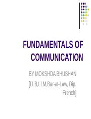 16e76LESSON 1--FUNDAMENTALS OF  COMMUNICATION.ppt