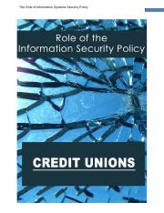WEEK 4 Option1 - THE ROLE OF IS POLICY-Credit Unions