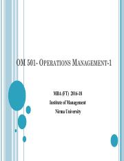 Class- 1 Inroduction of Operations and Supply Chain Management