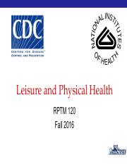Leisure and Physical Health