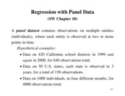 Chapter 10 - Regression with panel data