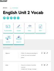 English Unit 2 Vocab Flashcards | Quizlet