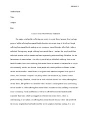 social work personal statement