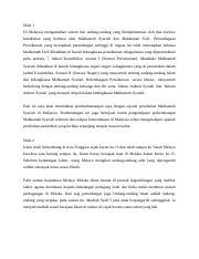Sejarah Perundangan Islam Docx 1 0 Pengenalan Perundangan Malaysia Dibentuk Dari U201cethos U201d Tempatan Sejarah Dan Budaya Ia Dapat Dilihat Sebagai Satu Course Hero