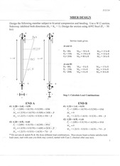 Biaxial bending and compression member design notes