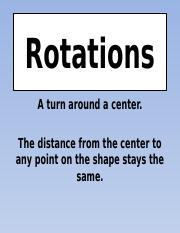 Coordinate rotations