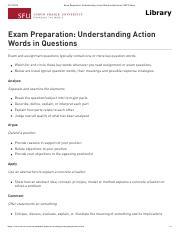 Understanding Action Words in Questions pdf - Exam