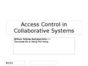 Sirigampola-Access Control in Collaborative Systems