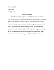 English 104A-Introduction Paragraph