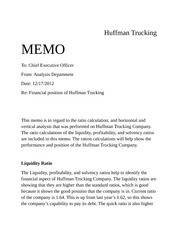 huffman trucking memo ceo forvirtual organization acc 291 The company is riordan manufacturing resources: the company is riordan manufacturing word memo to the ceo of your selected organization in which you.