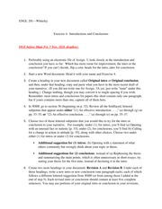 Exercise 4 (Introductions & Conclusions)