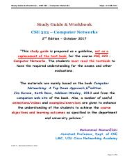 Study Guide - CSE 323 - Computer Networks - Chapter 1 - Introduction.pdf