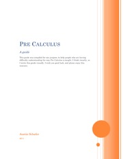 Pre Calculus Version 1.5.2