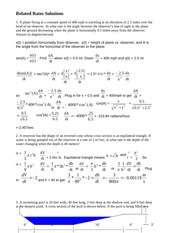 Lab 4 Related Rates Solutions FA12