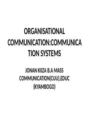 Flow of Communication Organizational.ppt