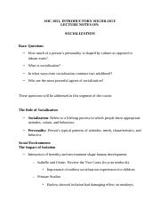 SOC 1051-476, Lecture Notes Unit 4 on Socialization.pdf