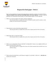 Proposal for Final Paper worksheet