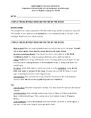 At-home FINAL PRACTICE essay and EDITING CHECKLIST