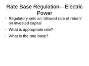 13-Rate Base Regulation—Electric Power2011
