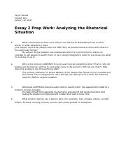 Taylor Woods-Essay 2 prep work analyzing the rhetorical situation .docx