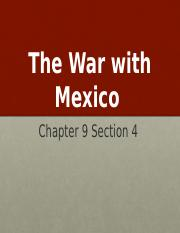 US I - The War with Mexico .pptx