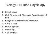 1. Introduction of physiology