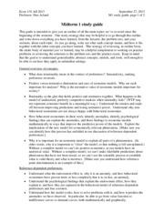 ECON 119 : Phsychology Economics - UC Berkeley - Course Hero