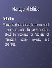 Managerial Ethics.ppt