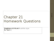 Chapter 21 Questions