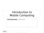 0- Intro Mobile Computing