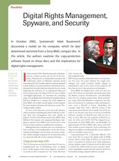 Digital Rights Management, Spyware, and Security