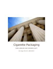 Cigarette Packaging.docx