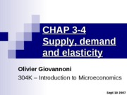 CHAP 3-4 - Supply, demand and elasticity - updated
