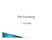 The Founding