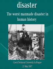 Disaster in Chernobyl.ppt