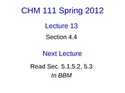Lecture 13 CHM111 Student Slides