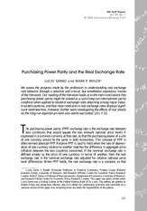 SARNO  TAYLOR (2002) Purchasing Power Parity and the Real Exchange Rate