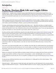 2013-10-21 In Syria, Doctors Risk Life and Juggle Ethics - NYT.com.pdf
