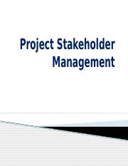 Stake holder Management