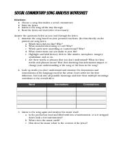 Copy of Copy of Song Analysis Worksheet