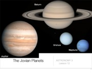 Lecture 12 - Jovian Planets