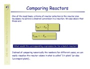 Reactor Combinations Notes