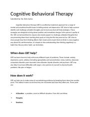 Cognitive Behavioral Therapy.docx
