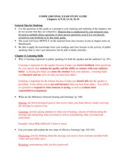COMM 1200 final study guide 2013 (Spring)