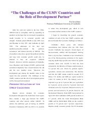 The challenge of CLMV countries and the role of development.pdf